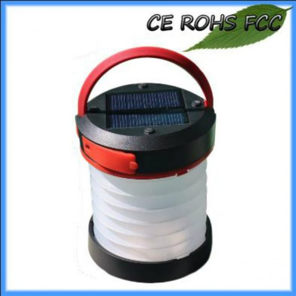 1 Watt Solar LED Foldable Camping Ligh with multiple usage