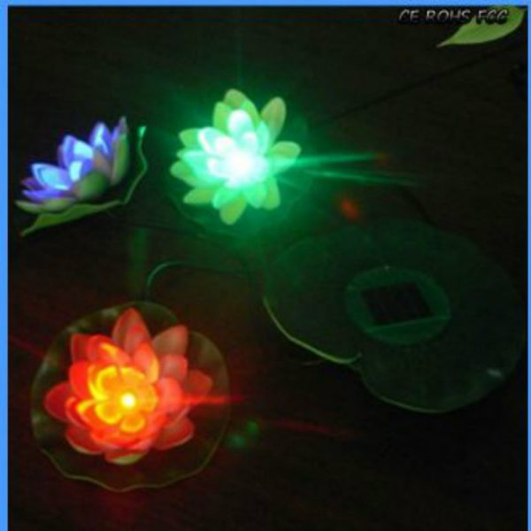 Night View Image of Solar Flower Light-10 Hours Working Time