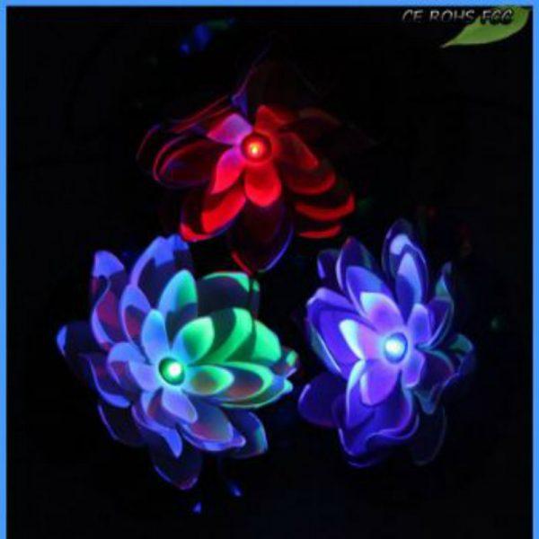 Night View Image of Solar Flower Light