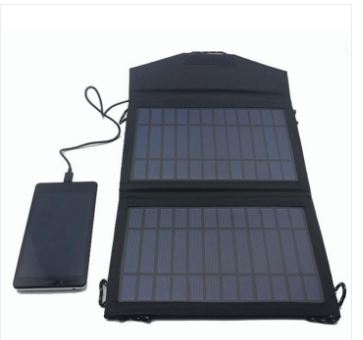 Portable 14 W Fabric Solar Charger With USB For Mobile Phone