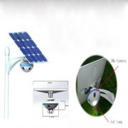 Solar Garden Light with Monitoring