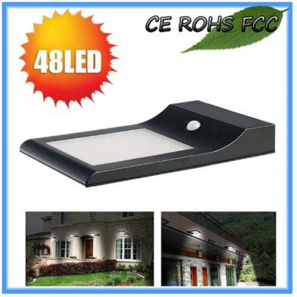 Solar LED Sensor Wall Light-5 Watt with sensor features