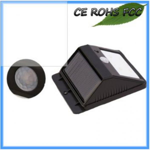 Solar LED Wall Light-triangula PIR Motion Sensor With 1.6 Watt