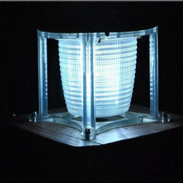 Solar Light Sensor Gate Light- 1.5 Watt-Night View Image