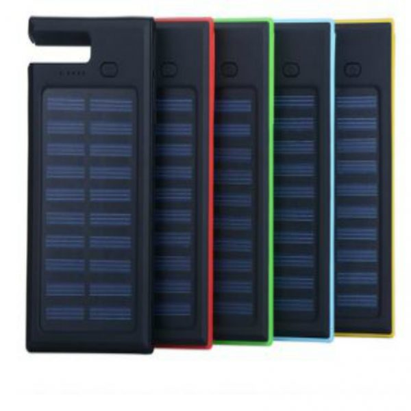 Dual-USB Waterproof Solar Power Bank Battery Charger for Cell Phone