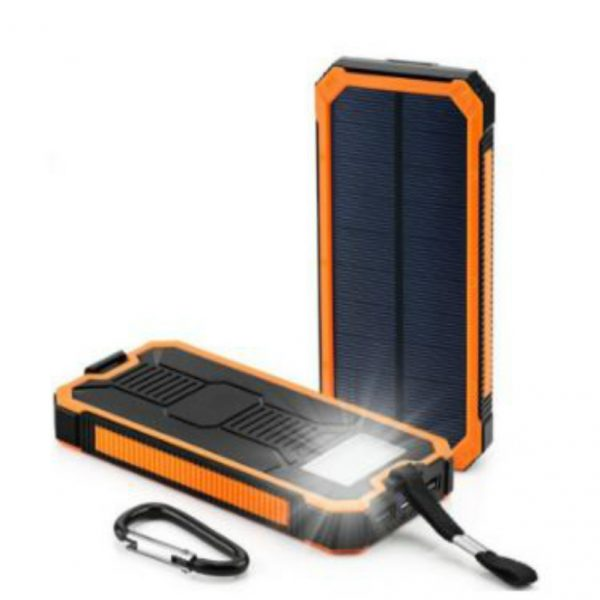 Plastic housing in optional color Solar Charger 8000mAh