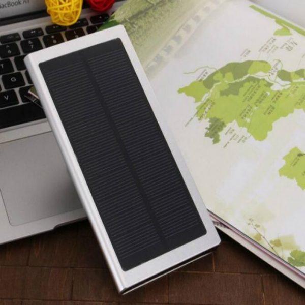 Solar Charger 10000 mAh for Metal Aluminum Alloy Oxidation