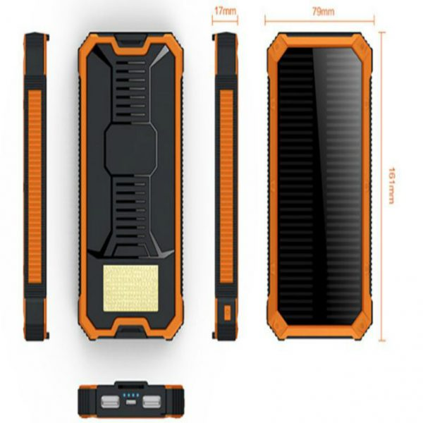 Solar Charger 20000 mAh with safety Polymer Battery