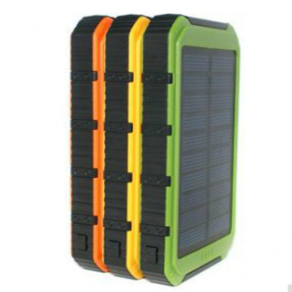Solar Charger 8000 mAh Water Shock Dust Resistant