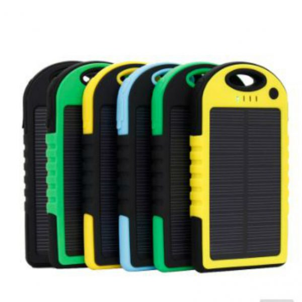 Solar Power Charger_5000 mah_Waterproof With Led